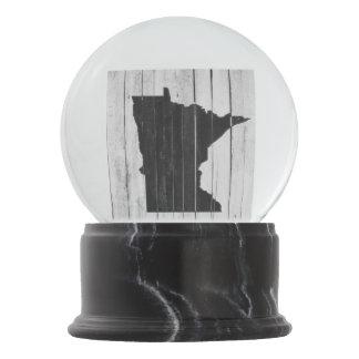 Boule À Neige Cottage Minnesota rustique de pays noir et blanc