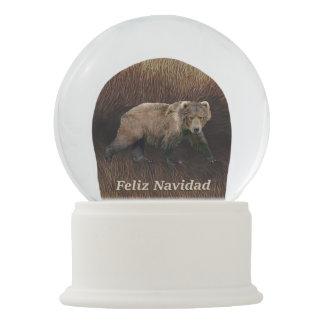 Boule À Neige Feliz Navidad - le Kodiak concernent la fourrure