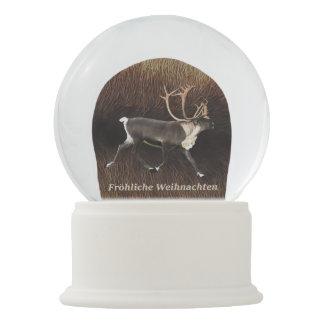 Boule À Neige Fröhliche Weihnachten - caribou de Taureau (renne)