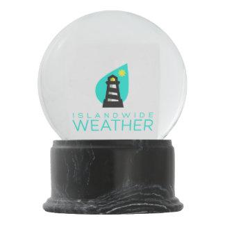 Boule À Neige Globe au niveau insulaire de neige de temps