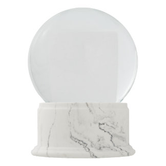 Boule À Neige Globe de marbre blanc de neige de finition