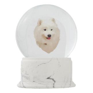Boule À Neige Globe de neige de Samoyed avec les confettis