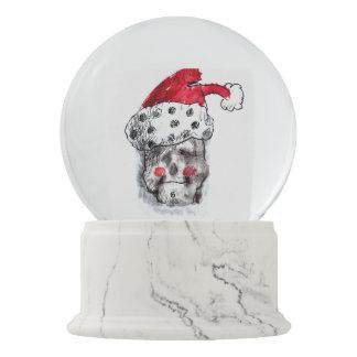 Boule À Neige Globe de neige du père noël - crâne Père Noël