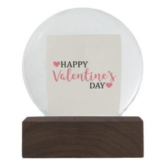 Boule À Neige Globe de neige pour la Saint-Valentin avec des