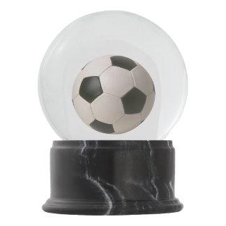 Boule À Neige le football blanc noir de 3D Soccerball