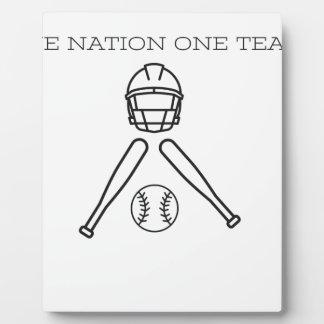 Boule basse. Une équipe de la nation une. Plaque D'affichage