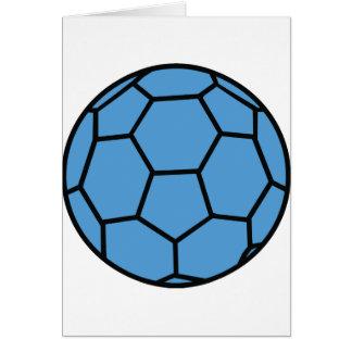 boule bleue de handball carte de vœux