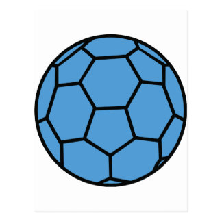 boule bleue de handball cartes postales