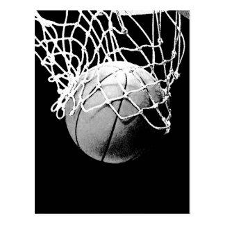 Boule de basket-ball carte postale