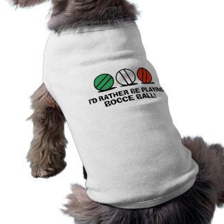 Boule de Bocce drôle T-shirt Pour Chien