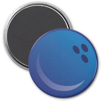 Boule de bowling bleue mignonne de Kawaii Magnet Rond 7,50 Cm