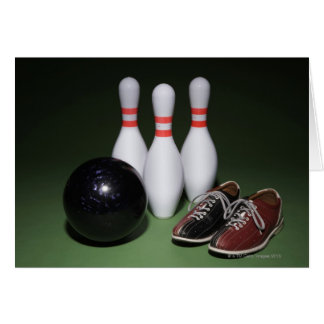 Boule de bowling carte de vœux