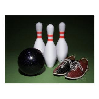 Boule de bowling carte postale