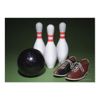 Boule de bowling carton d'invitation  12,7 cm x 17,78 cm