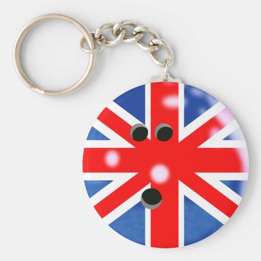 Boule de bowling de la Grande-Bretagne Keychain Porte-clef
