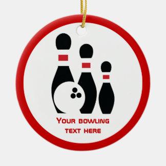 Boule de bowling et coutume rouge noire de ornement rond en céramique