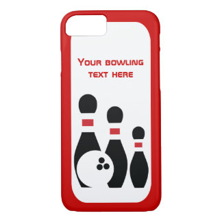 Boule de bowling et moderne noir rouge de coque iPhone 7