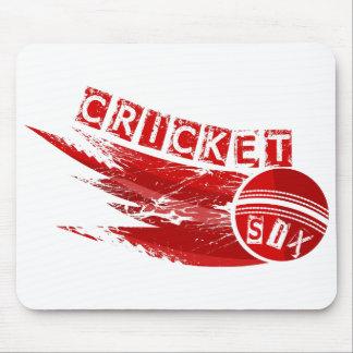Boule de cricket frappée pour six tapis de souris