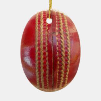 Boule de cricket ornement ovale en céramique