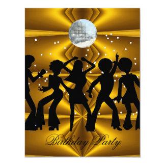 Boule de disco de fête d'anniversaire de danse de carton d'invitation 10,79 cm x 13,97 cm