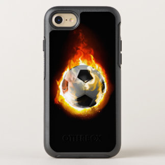 Boule de feu du football coque otterbox symmetry pour iPhone 7