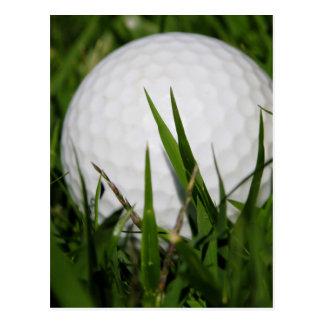 Boule de golf dans le rugueux cartes postales