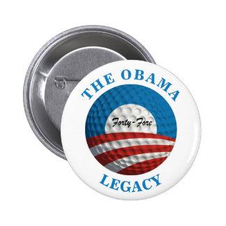 Boule de golf du legs d'Obama Badges