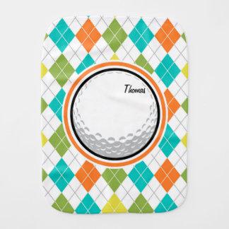 Boule de golf ; Motif à motifs de losanges coloré Linge De Bébé