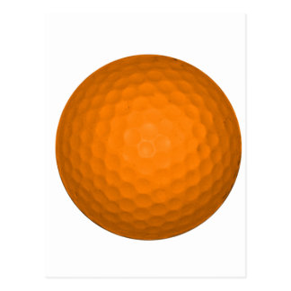 Boule de golf orange cartes postales
