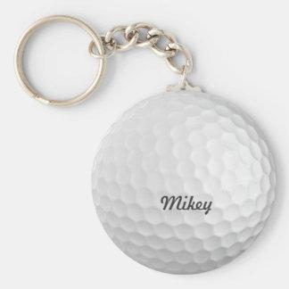Boule de golf personnalisable porte-clés
