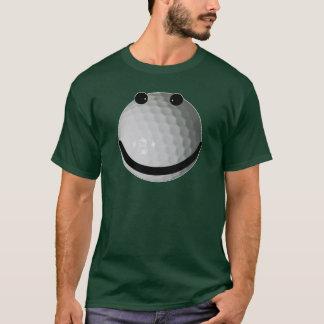 Boule de golf souriante de visage t-shirt