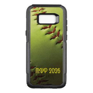Boule de jaune de nom de joueur de base-ball coque samsung galaxy s8+ par OtterBox commuter