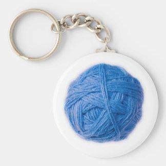 boule de laine porte-clé rond