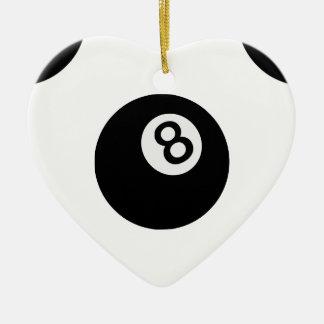 boule de l'emoji huit ornement cœur en céramique