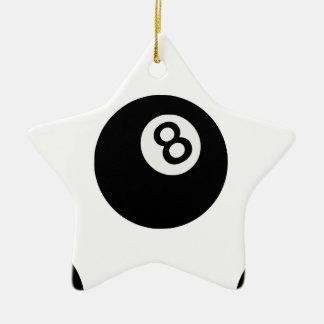 boule de l'emoji huit ornement étoile en céramique
