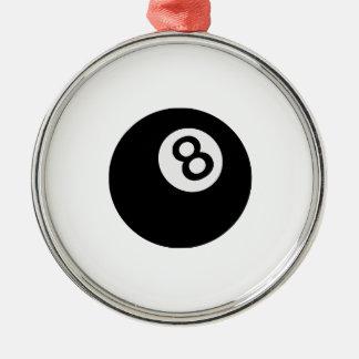 boule de l'emoji huit ornement rond argenté