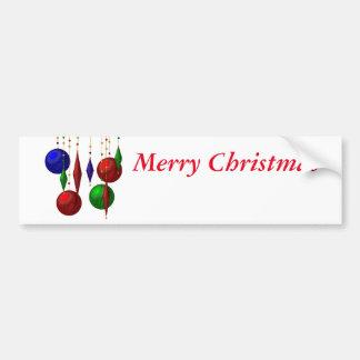 boule de Noël sur l'arrière - plan blanc Autocollant Pour Voiture
