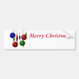 boule de Noël sur l'arrière - plan blanc Autocollant De Voiture