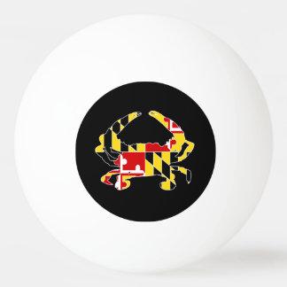Boule de ping-pong de crabe de drapeau du Maryland Balle De Ping Pong