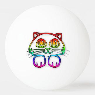 Boule de ping-pong de Kitty d'arc-en-ciel Balle Tennis De Table