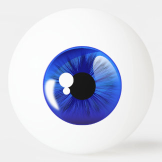 Boule de ping-pong d'iris de boule d'oeil bleu balle de ping pong