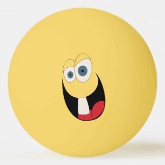 Boule de ping-pong drôle de visage de dent simple balle de ping pong