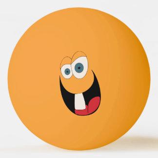 Boule de ping-pong drôle de visage de dent simple balle tennis de table