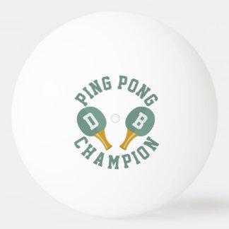 Boule de ping-pong personnalisée de champion de balle de ping pong