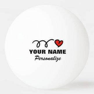 Boule de ping-pong personnalisée de coeur pour le balle de ping pong