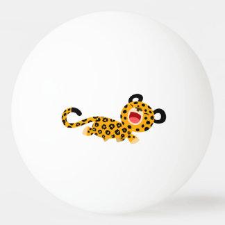Boule de ping-pong plaisante de léopard de bande d balle de ping pong