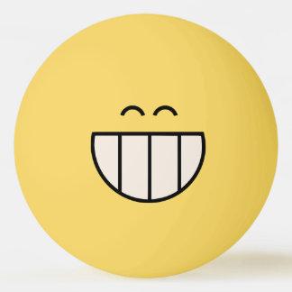 Boule de ping-pong souriante de grande grimace de balle de ping pong