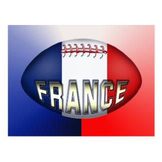 Boule de rugby de la France Carte Postale