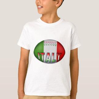 Boule de rugby de l'Italie T-shirt