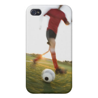 Boule de ruissellement de footballeur étui iPhone 4/4S